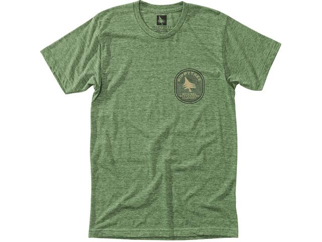 Hippy Tree Geology Camiseta Hombre, heather army